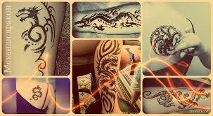 татуировка хной дракон