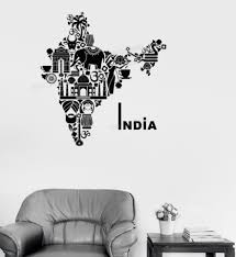 india collage mural exterior wall art