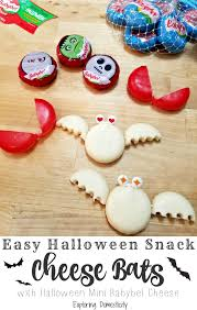 easy snack cheese bats with mini babybel cheese