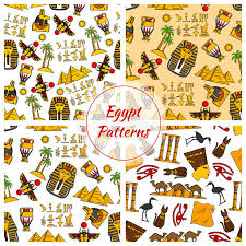 Cultural Patterns Inspiration Ancient Egypt Culture Patterns Stock Vector Illustration Of