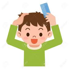 combing hair clipart. Perfect Clipart Boy Comb The Hair With A Throughout Combing Hair Clipart C
