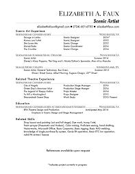 scenic art resume s art lewesmr sample resume of scenic art resume