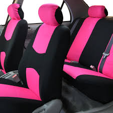 full seat covers set pink w silicone steering wheel cover for car suv van 1