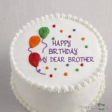 I Have Written My Dear Brother Name On Cakes And Wishes On This