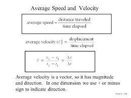 8 average sd and velocity