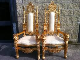 large wedding throne chairs