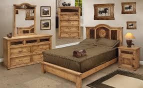 Superior Well Suited Design Rustic Pine Bedroom Furniture And W Cowhide San Felipe  Set Bittersweet