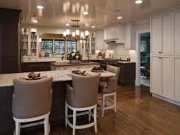 Dark Brown Cabinets Kitchen Brown Kitchen Cabinets With White Island Quicuacom