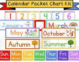 66 Punctual Pocket Chart Calendar Cards Printable