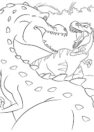 Fight Dinosaurs Coloring Pages For Kids