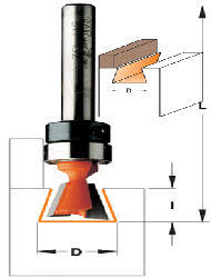 dovetail router bits. dovetail router bit with bearing 1/4\ bits o