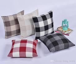 high end pillows. Beautiful Pillows Grid Square Pillow Case Highend Car Cushions Cases Doublesided Linen  Lattice To High End Pillows S