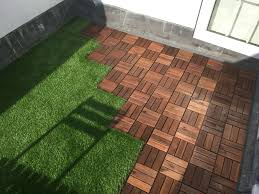 grass rug outdoor luxury roof terrace with ikea decking tiles and oakham artificial grass 3