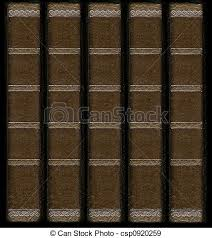 old vine leather book spines with silver decorative details csp0920259