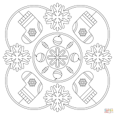 Small Picture Winter Mandala coloring page Free Printable Coloring Pages