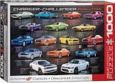 Eurographics 6000-0949 Dodge Charger Challenger Evolution Puzzle (1000 Piece)