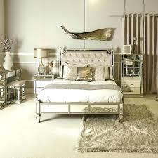 Mirrored King Bedroom Set Upholstered 6 Piece And Tufted Coal Creek ...