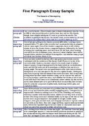sample essays middle school example of an essay writing