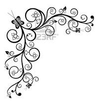Simple Border Designs For Project Swirls And Hearts Cool Black And White Drawings Frame Clip Art Black And