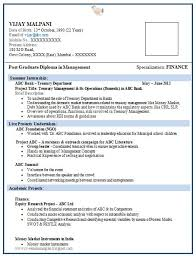 A Fresher Resume Format