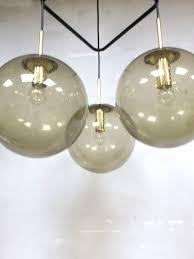 Vintage Glazen Bol Lamp Hanglamp Pendant Glashütte Limburg Bestwelhip