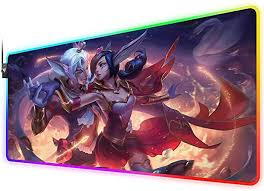 RGB Gaming Mouse Pad for Sweetheart xayah and ... - Amazon.com