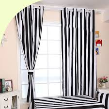 Modren Black And White Curtains Striped Throughout Decorating Ideas