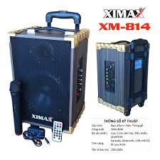 Loa vali kéo karaoke bluetooth 2 tấc XIMAX - XM-814 - Loa kéo 2 tấc, pin  7,4V, 1 mic (1 cái)