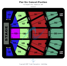 Festival Pier Seating Chart Prototypical Pier Six Pavilion Seating View 2019