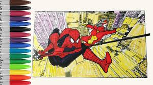 Small Picture SPIDERMAN Make Team With SPIDER WOMAN Coloring Pages SAILANY