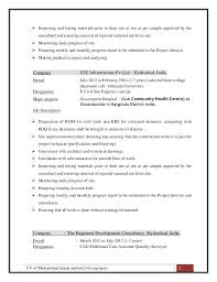 sample resume for civil site engineer of engineer civil site engineer  resume sample pdf