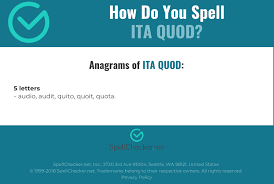 The international phonetic alphabet started out as an attempt to help navigate these murky spelling waters, and became a project with global scope. Correct Spelling For Ita Quod Infographic Spellchecker Net