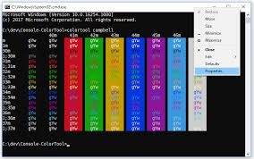 Windows 10 Color Scheme Introducing The Windows Console Colortool Windows Command Line