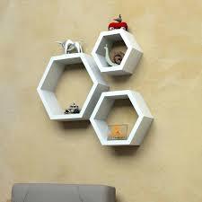 set of three hexagon wall shelves white hexagonal shelf target