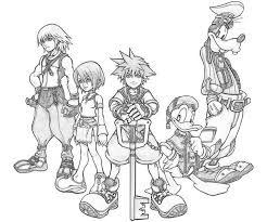 Small Picture Coloring Page Kingdom Hearts Pages Printable mosatt