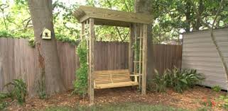 Small Picture How to Build a Backyard Arbor Swing Todays Homeowner