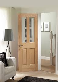 malton oak clear bevelled glass door