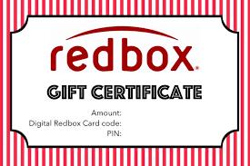 Free printable: Redbox gift | Redbox gift, Printable gift certificate ...