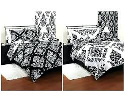 black damask bedding bedding comforter reversible damask set modern black white sham beautiful twin black damask