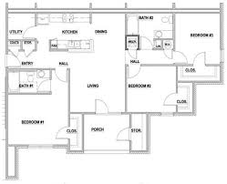 3 Bedroom Floor Plans Unique Inspiration Ideas