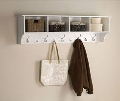 White Coat Hook Rack Wall Mounted Coat Rack Contemporary Wooden Peg Rail Pertaining To 85