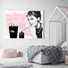 Wall Pictures Home Decor Pink Audrey ...
