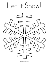 Small Picture Let it Snow Coloring Page Twisty Noodle