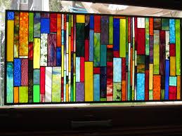 colorful glass window panels
