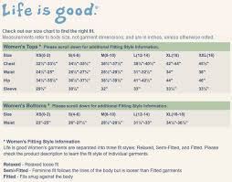 Customer Service Sizing Charts