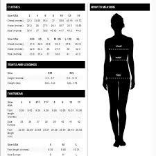 Zara Size Chart