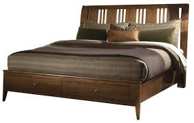 Kincaid Bedroom Furniture Cherry Park Solid Wood Queen Sleigh Storage Bed