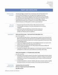 Sample Resume For Experienced Android Developer Fresh Ui Developer