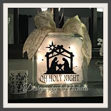 diy glass block craft projects unique oh holy night lighted glass 8 inch block gf016