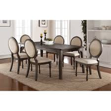 winners only daphne dining set with upholstered oval back chairs item number dd34278